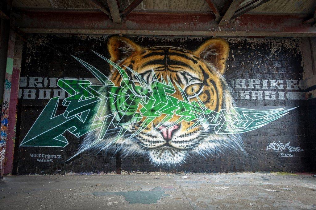 graffiti - sonic oner - berlin, teufelsberg