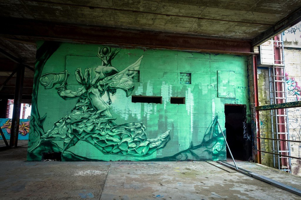 graffiti - nasca uno - berlin, teufelsberg