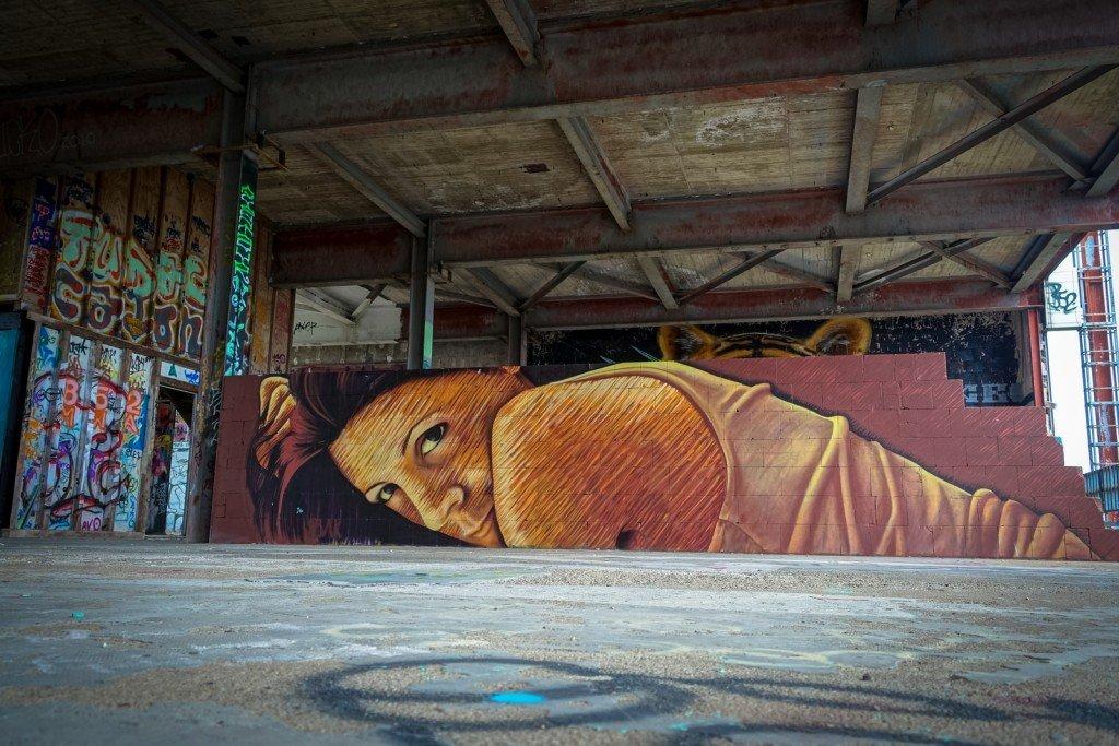 urban art - jbak - berlin, teufelsberg