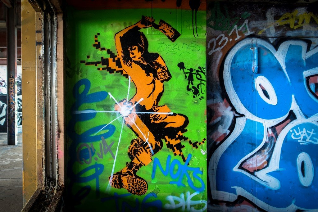 stencil - berlin, teufelsberg