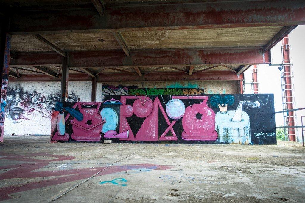 urban art  - benzo wsdm - berlin, teufelsberg