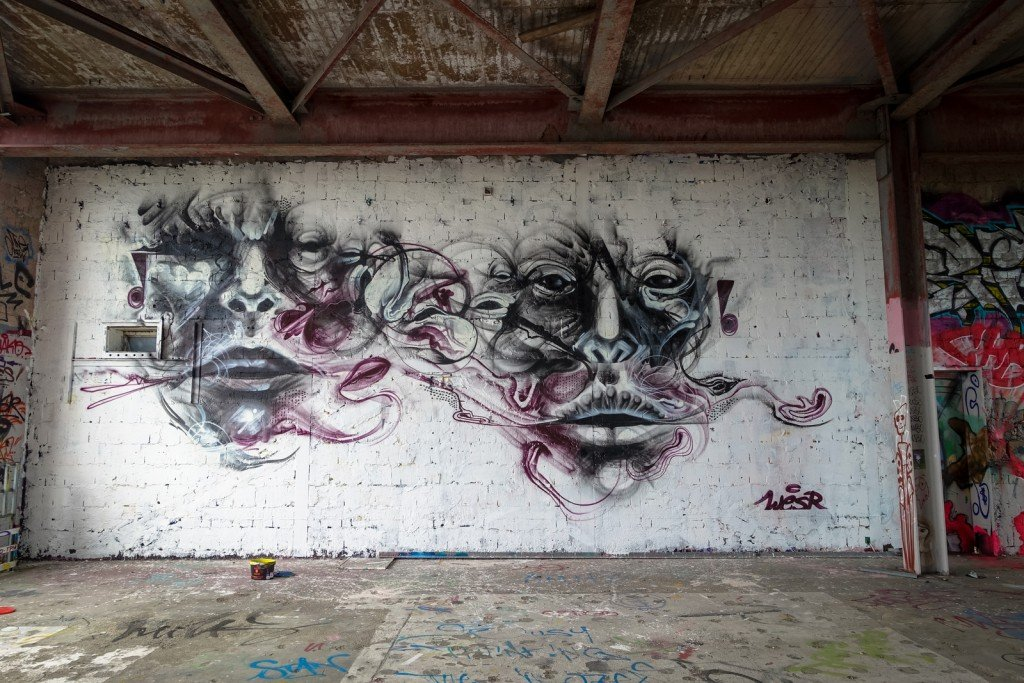 mural - wesr - berlin, teufelsberg