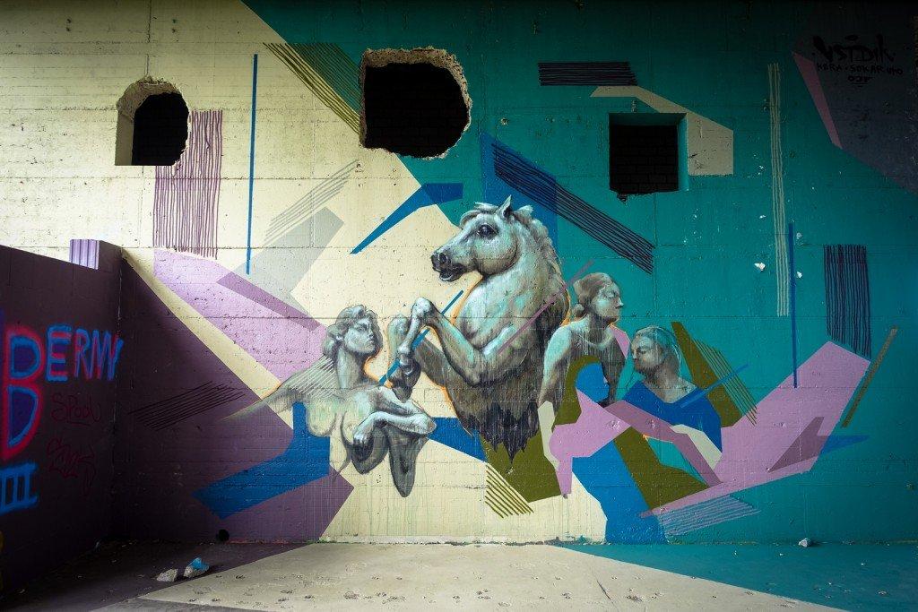 mural - sokar uno & kera - berlin, teufelsberg