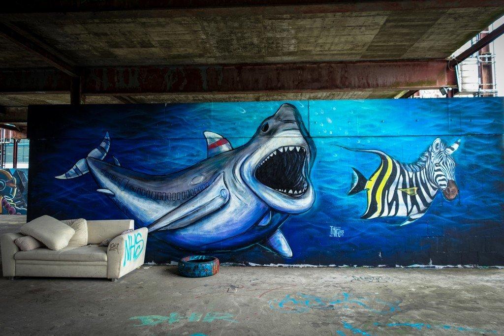 streetart - thieu - berlin, teufelsberg