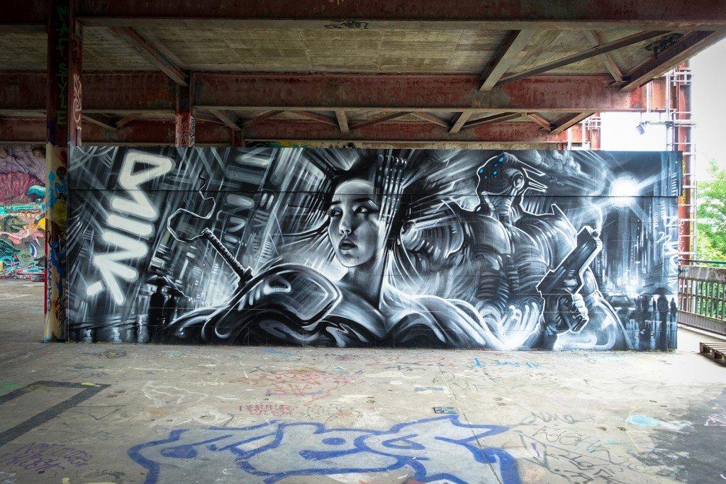 graffiti - dan kitchener - berlin, teufelsberg