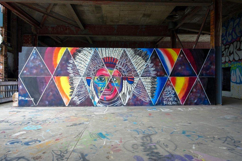 streetart - bb bastidas - berlin, teufelsberg