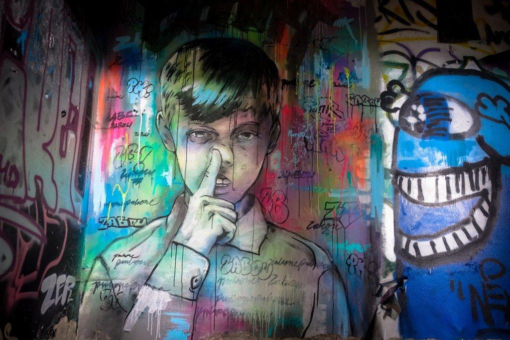streetart - zabou - berlin, teufelsberg
