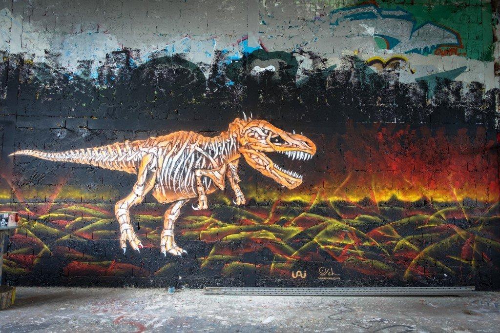 mural - otto schade - berlin, teufelsberg