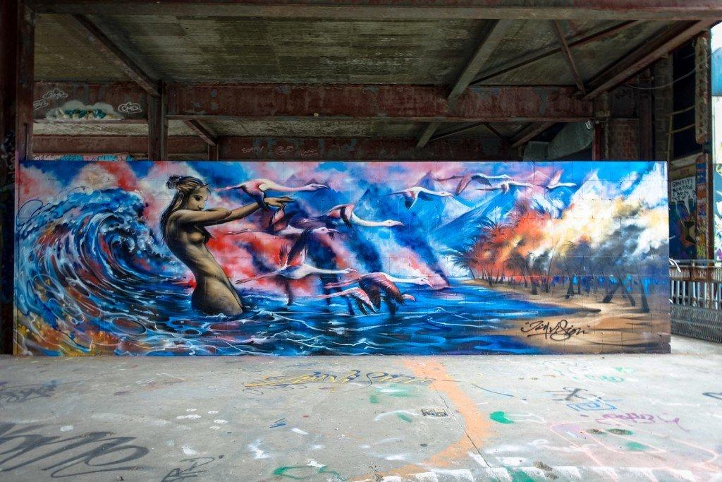 mural - jim vision - berlin, teufelsberg