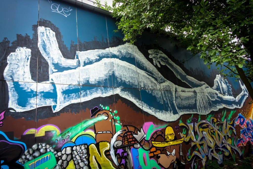 streetart - berlin, teufelsberg
