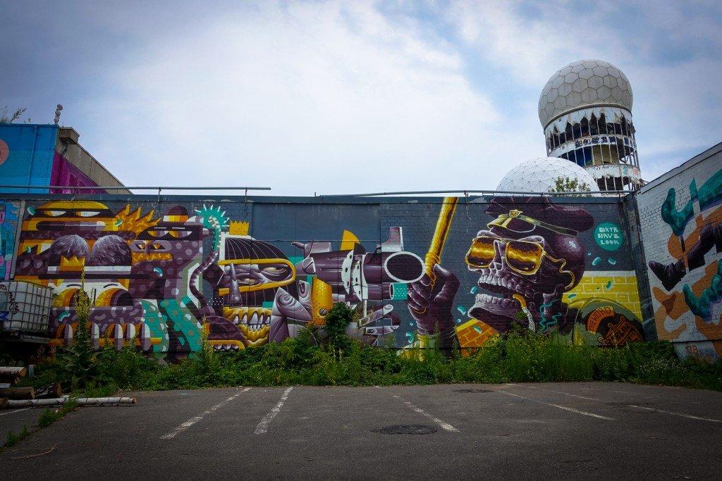 mural - dxtr & hrvb & look - berlin, teufelsberg