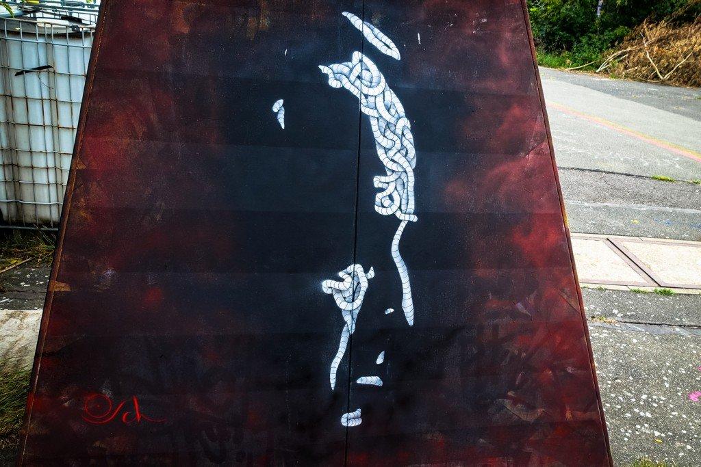 streetart - otto schade - berlin, teufelsberg
