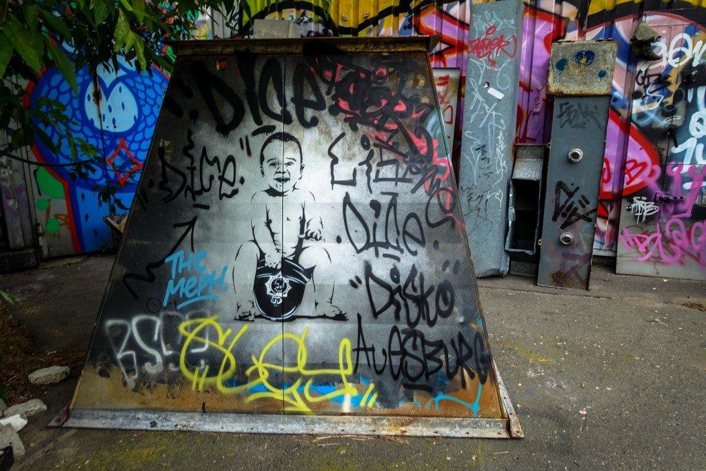 stencil - otto schade - berlin, teufelsberg