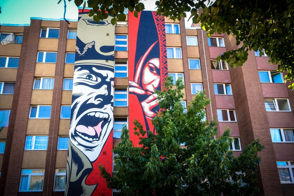 Urban art in the b lowstrasse berlin urbanpresents - Urban art berlin wandtattoo ...