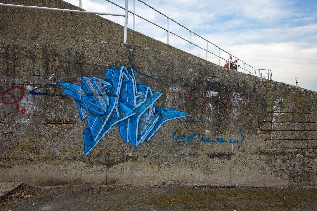 graffiti - ghostvillage doel, belgium