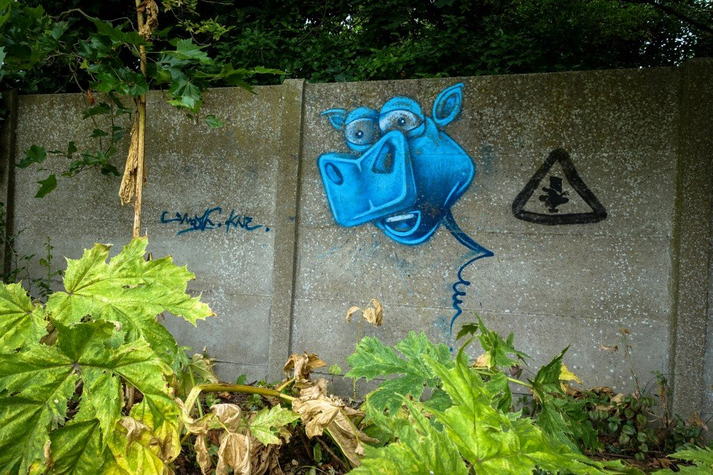 urban art - ghostvillage doel, belgium