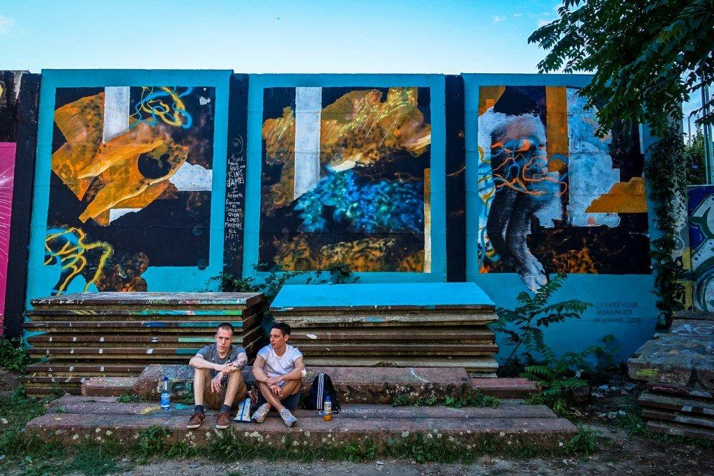 mural - leimkühler, mundinger, mischke - berlin, friedrichshain