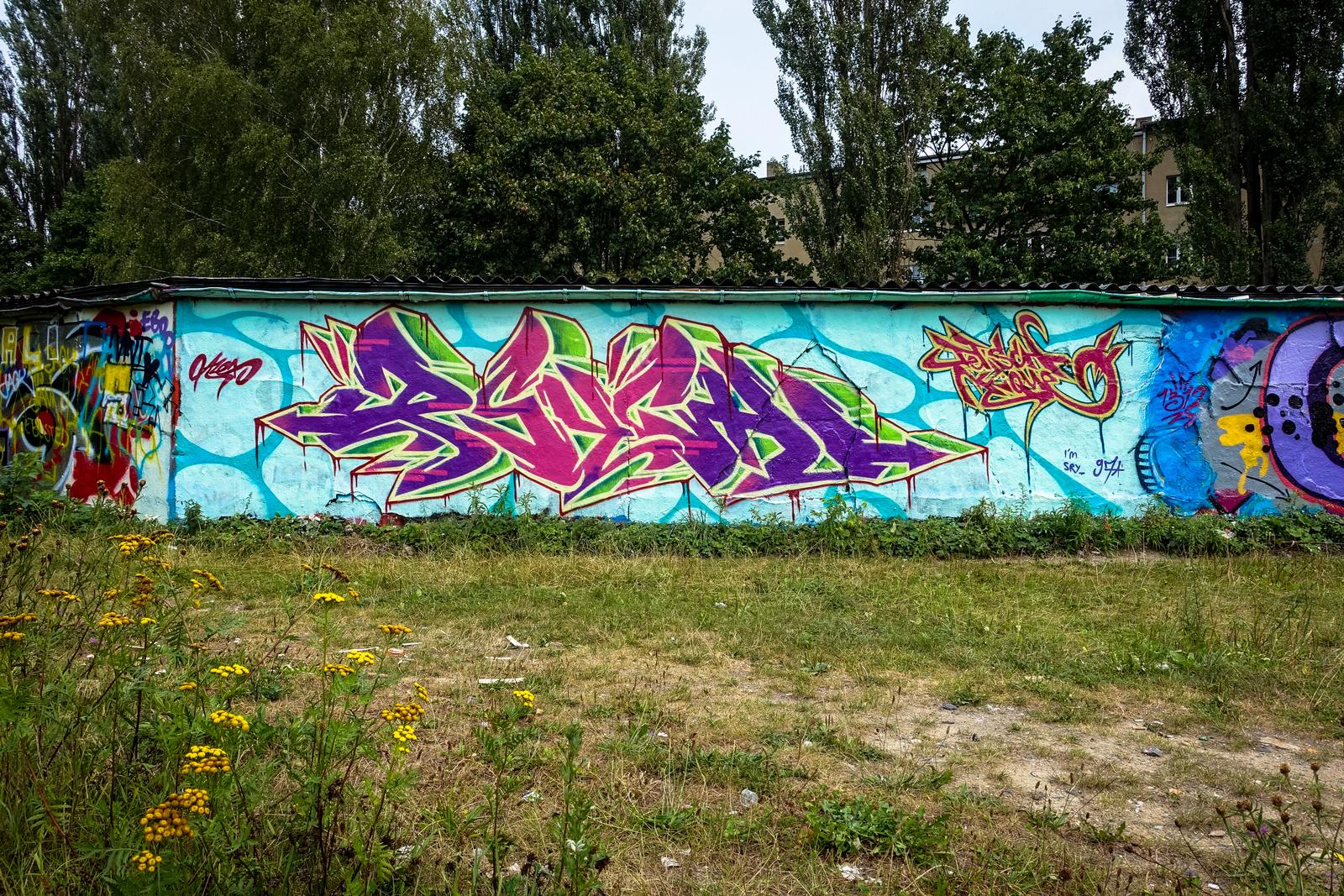 graffiti an der bornholmer garagen, berlin