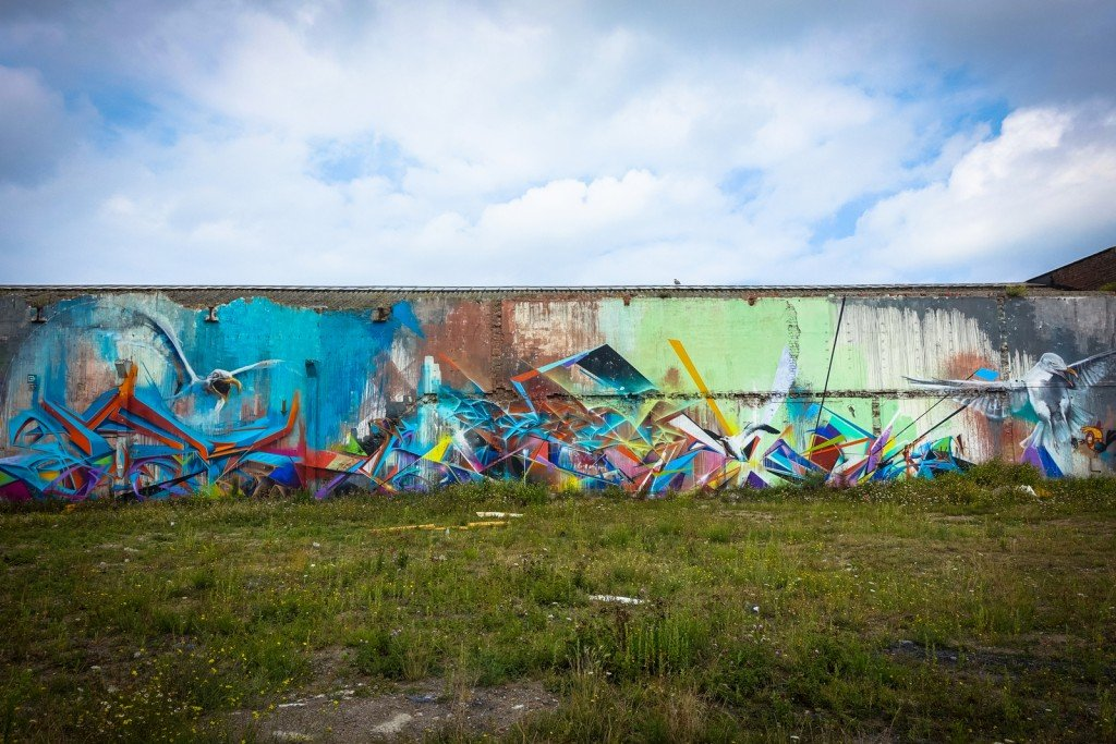 "graffiti - cazn, timon, jeps - belgium, ostend, ""just writing my name"""