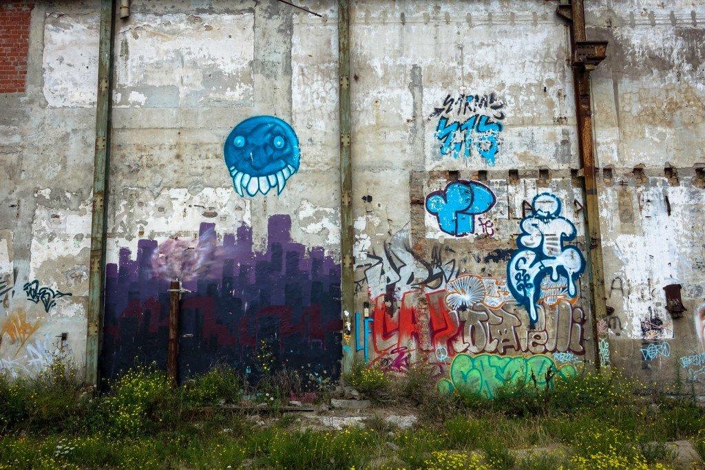 "graffiti - belgium, ostend, ""just writing my name"""