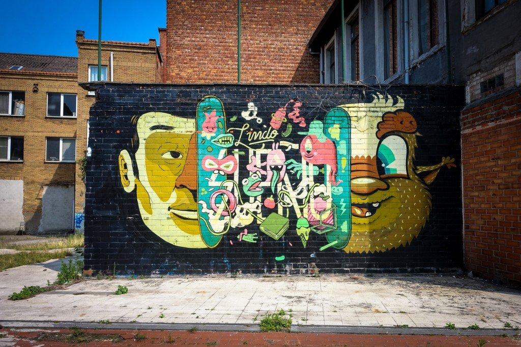 urban art - bue,  - belgium, ghent