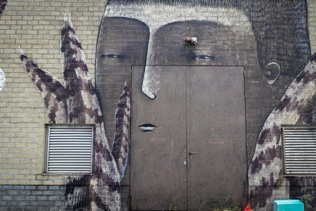 "mural - bisser - belgium, ghent, ""kerk"""