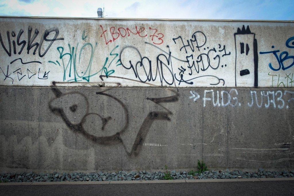 graffiti - dsf - hamburg, steinwerder