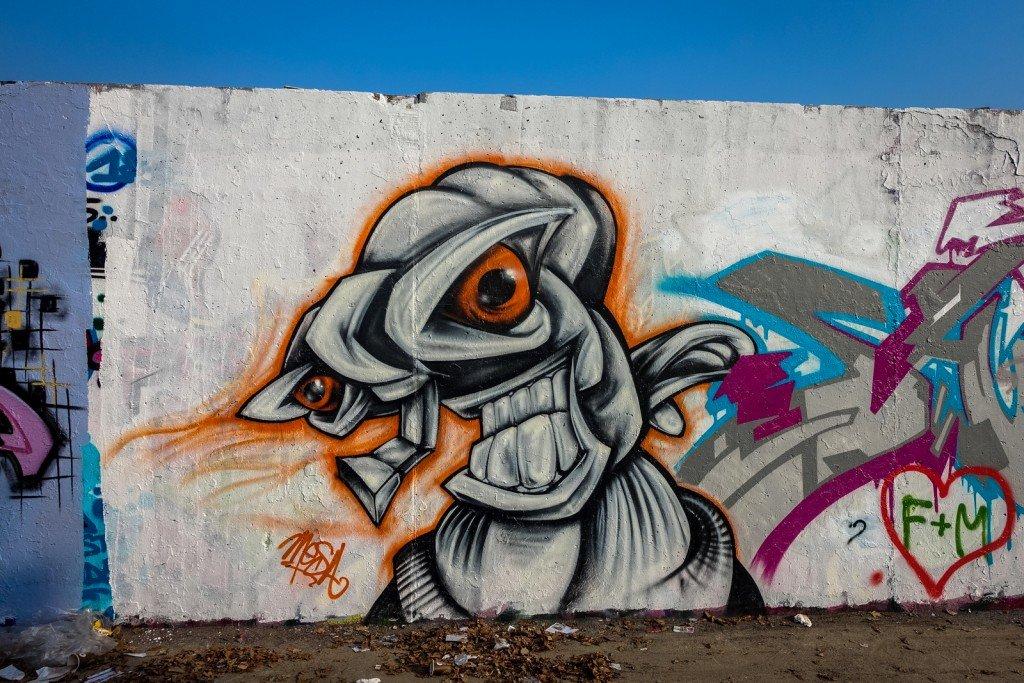 graffiti - mesa - berlin, mauerpark