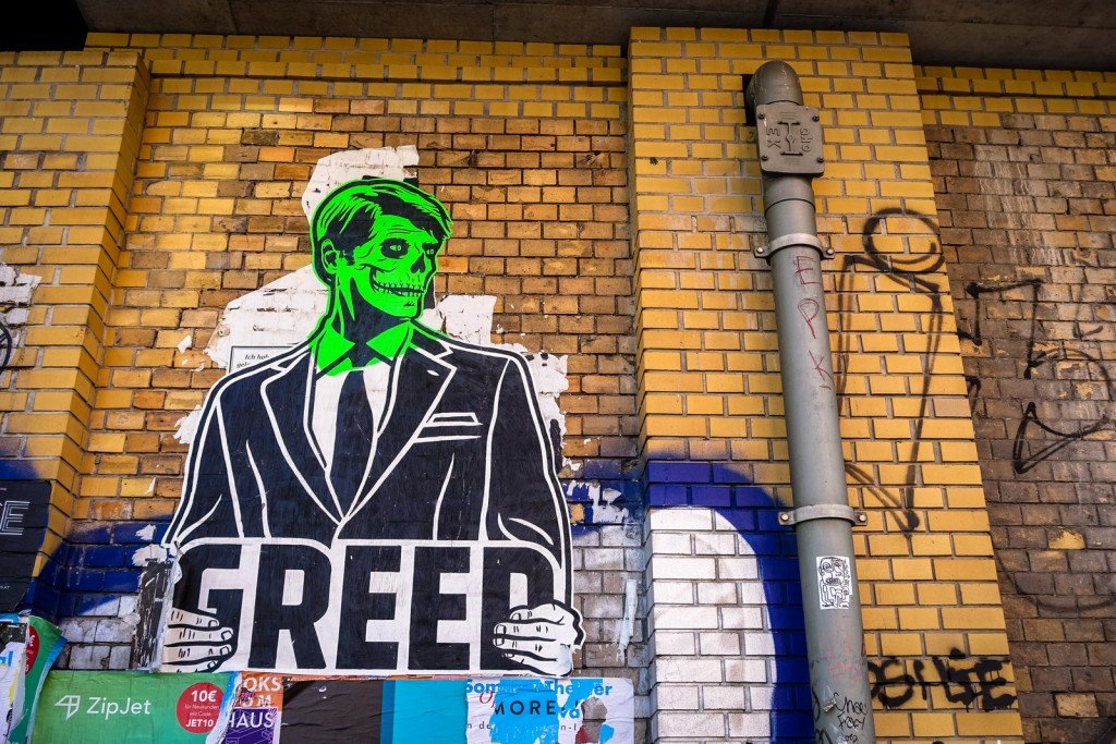 paste up - greed - berlin, dircksenstrasse