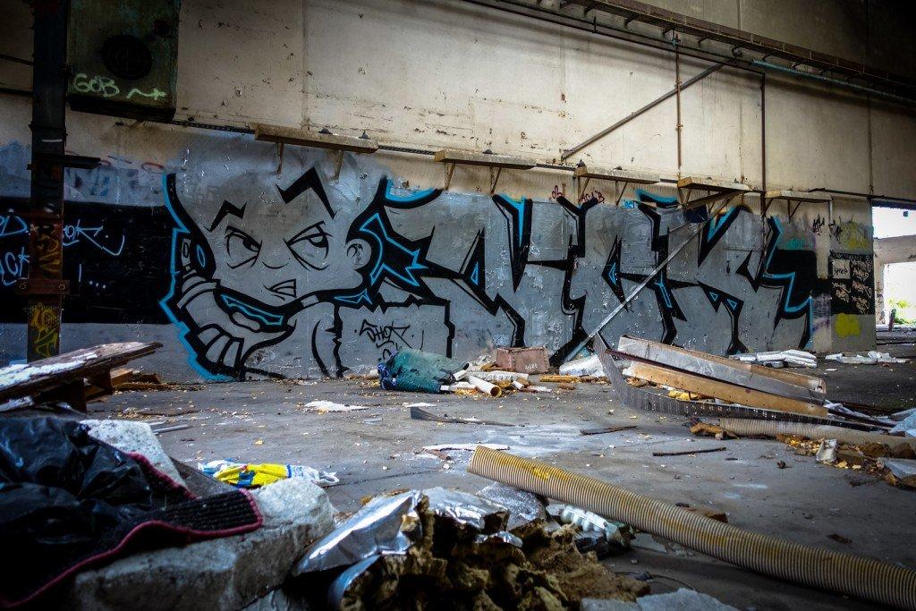 urbex - graffiti - nck - johannisthal air field