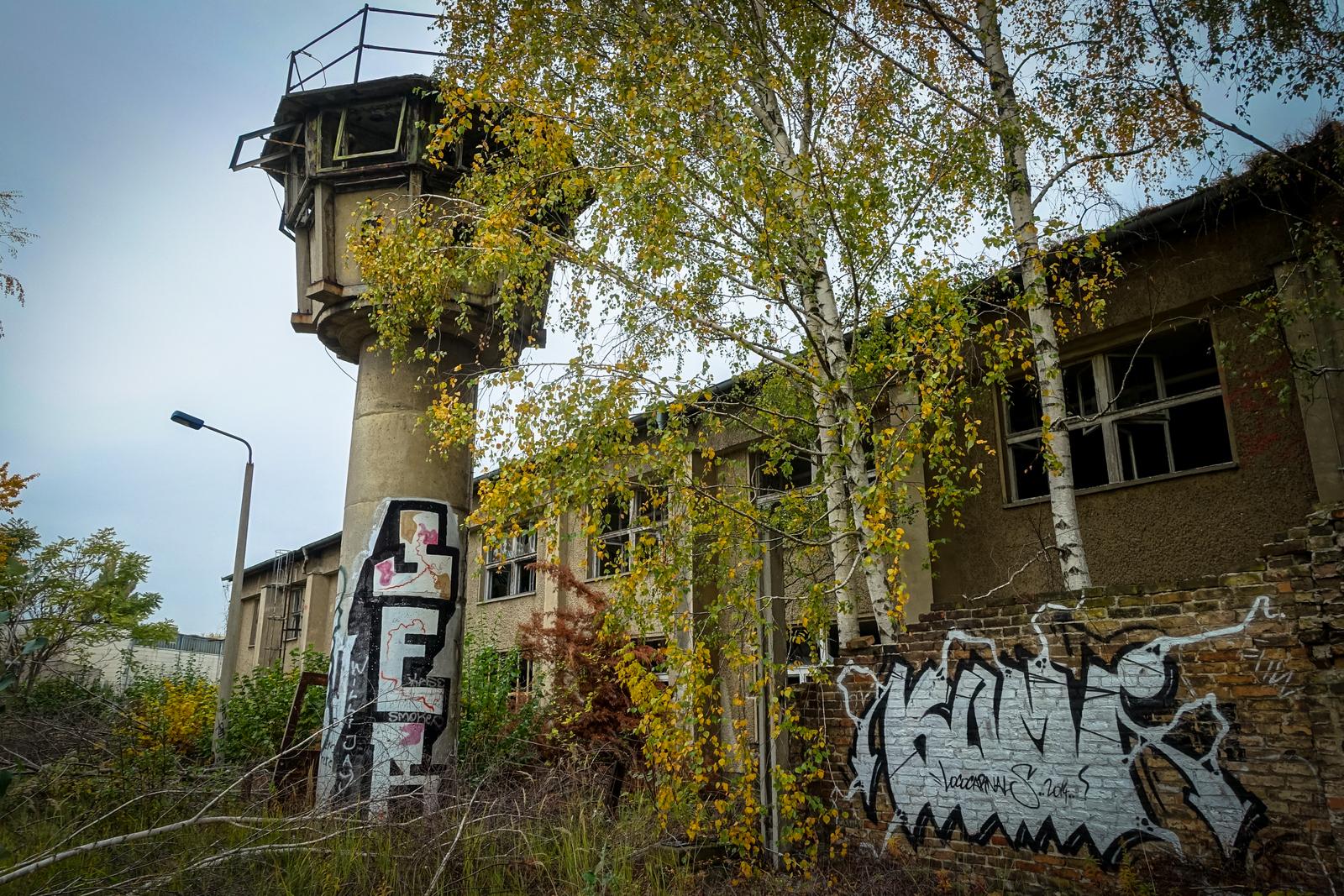 graffiti urbex at air field johannisthal, berlin