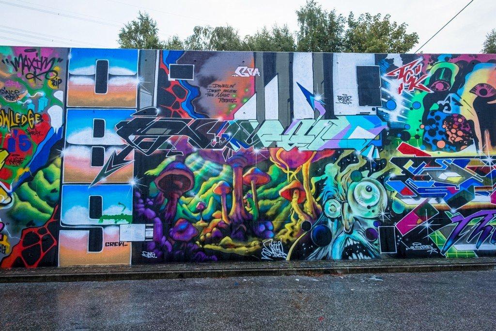 graffiti - obs, gfa, nomad - harburg, bostelbeker hauptdeich hal