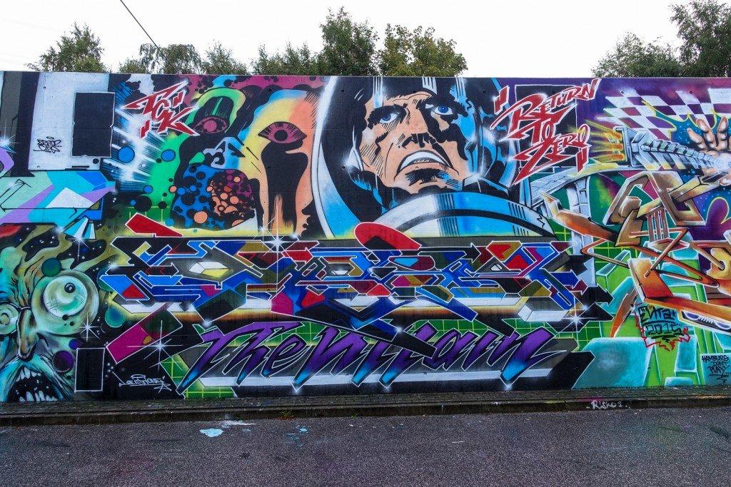 graffiti - tck - harburg, bostelbeker hauptdeich hall of fame