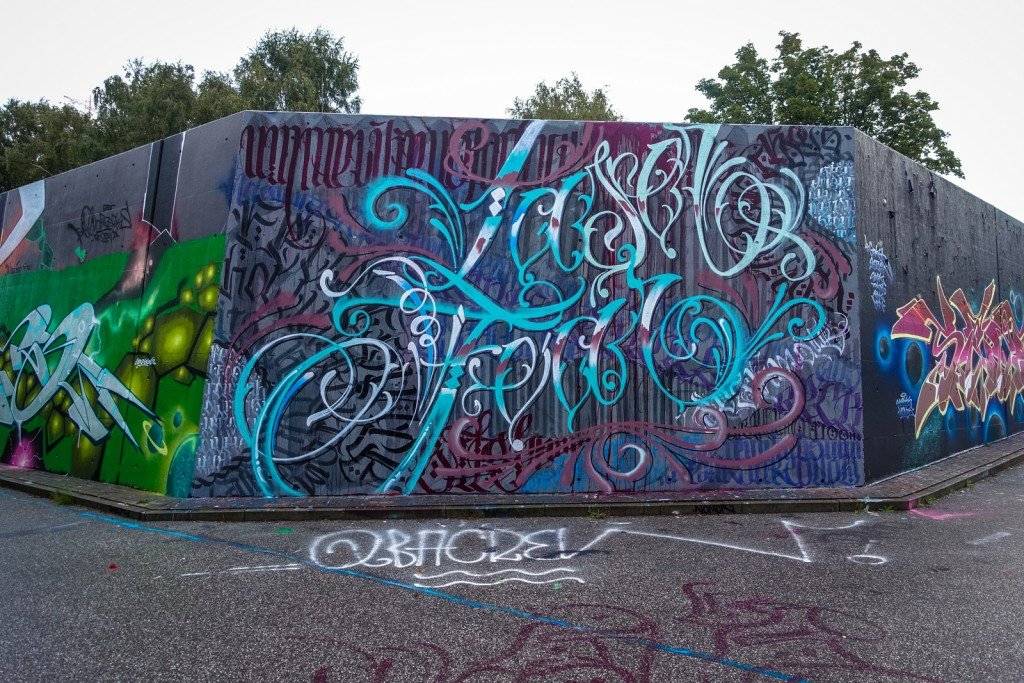 graffiti - harburg, bostelbeker hauptdeich hall of fame