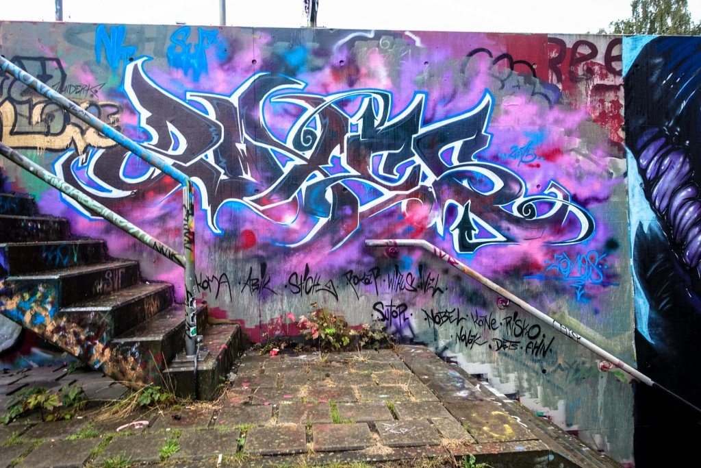 graffiti - harburg, bostelbeker hauptdeich hall of fame
