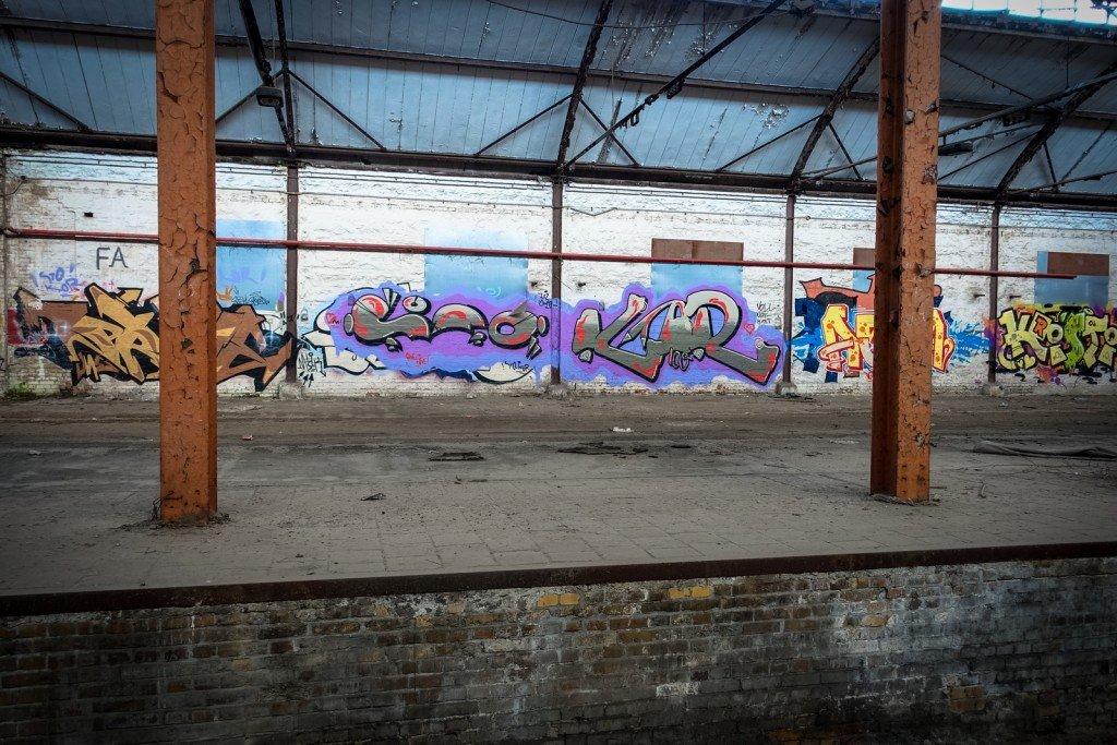 urbex graffiti - kor - am güterbahnhof, halle ad saale
