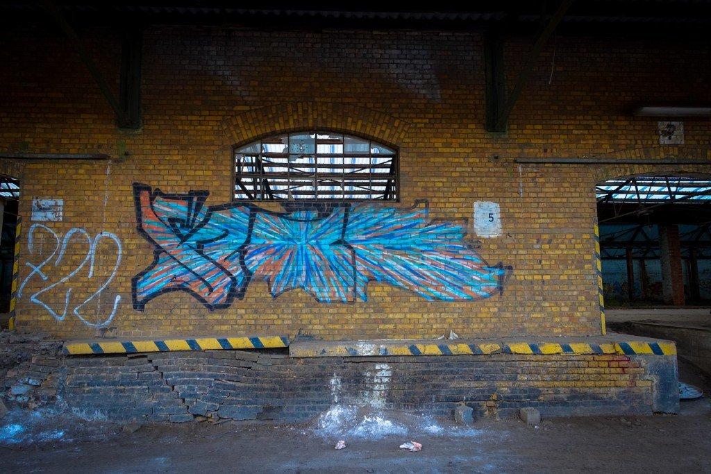 urbex graffiti - am güterbahnhof, halle ad saale