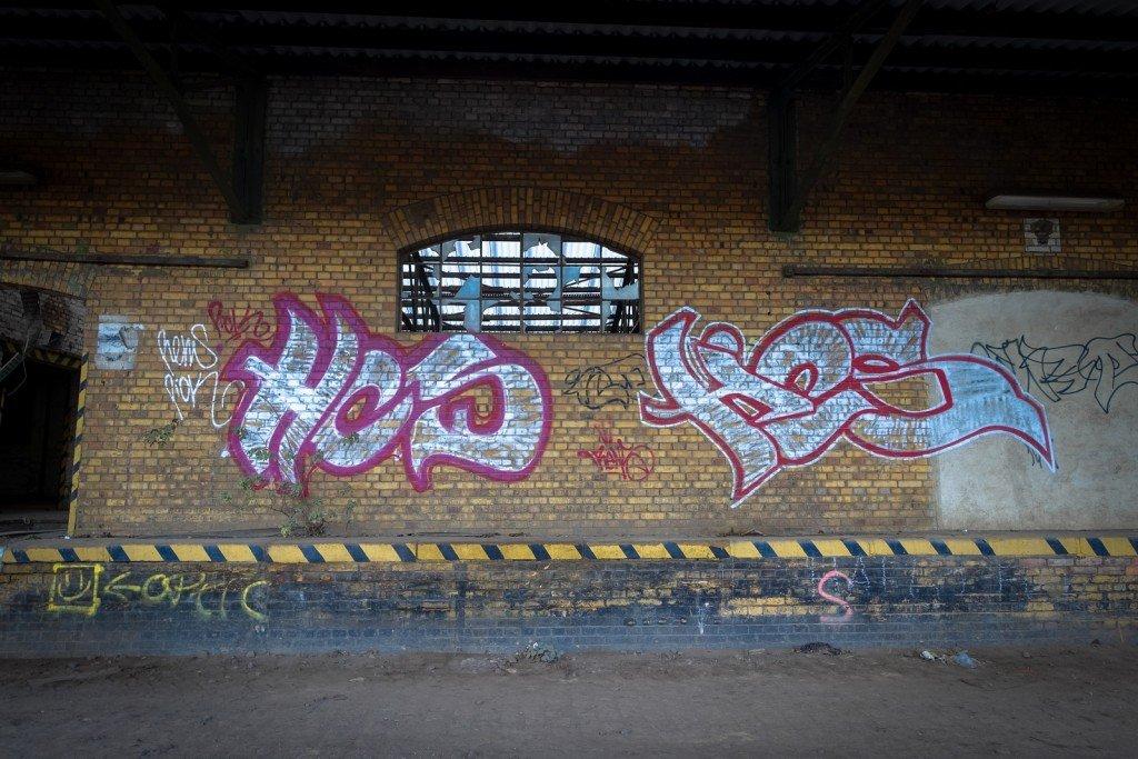 urbex graffiti - hcs- am güterbahnhof, halle ad saale
