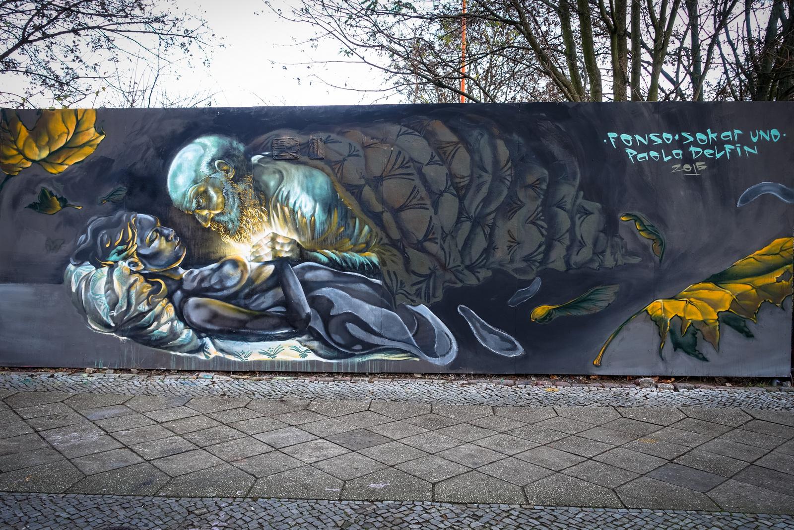 mural from pao delfin, sokar uno & fonso paquidermo – berlin, neukölln