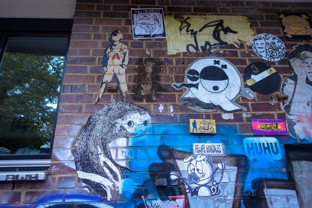 streetart - sam crew, alias, joiny - hamburg, st pauli