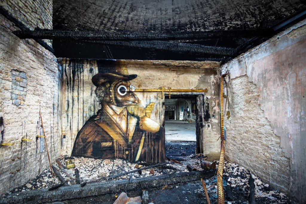 urbex art - plotbot ken - flugzeughallen berlin, karlshorst