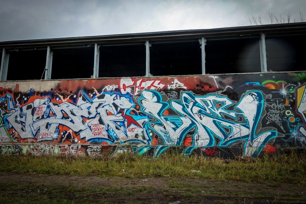 urbex art graffiti - tck crew - db gelände - berlin, biesdorf-s