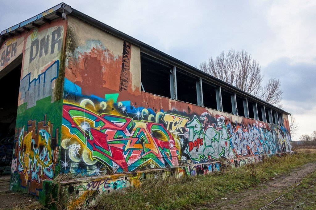 urbex art graffiti - drik - db gelände - berlin, biesdorf-süd
