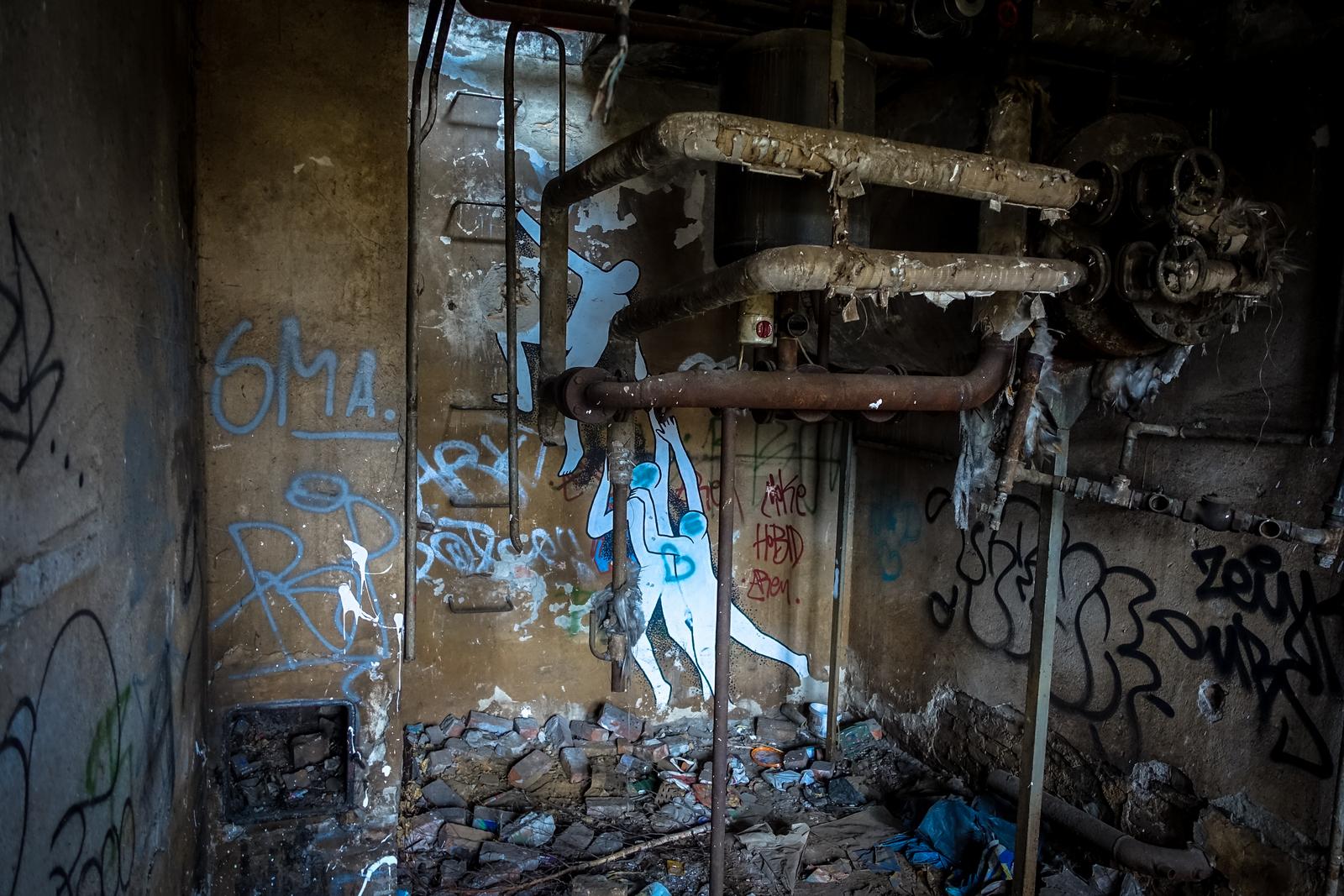 graffiti auf das db gelände, berlin-biesdorf süd
