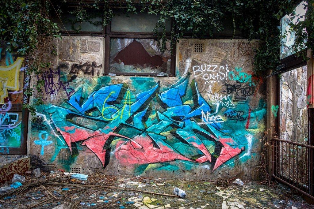 urbex graffiti - erlebnisbad blub - berlin-britz