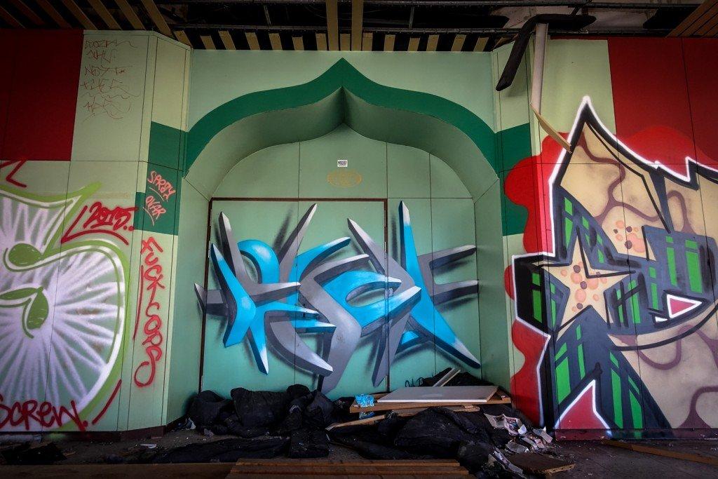 graffiti - urbex - ehemaliges sporthotel, sportforum, berlin