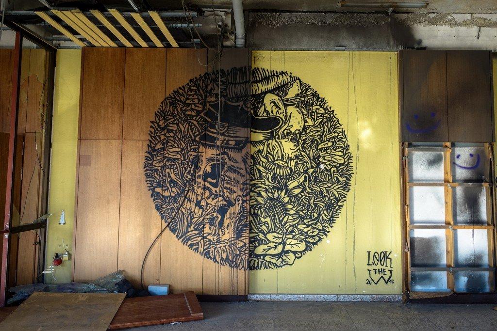 graffiti urbex - look the w -  ehemaliges sporthotel, sportforum