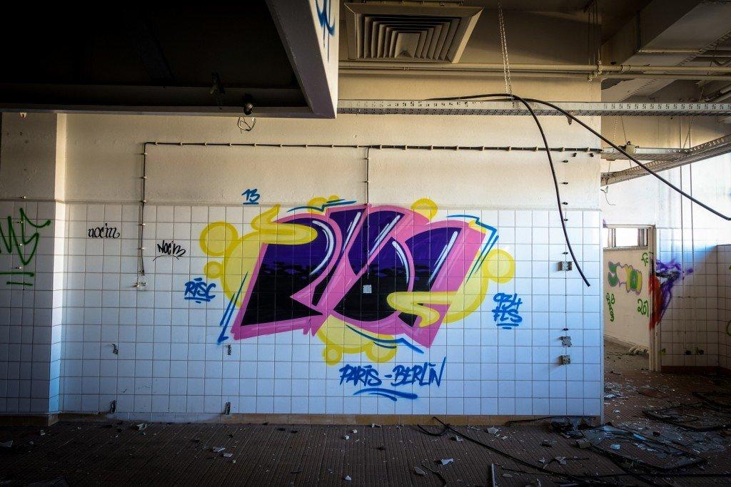 graffiti urbex - risc - ehemaliges sporthotel, sportforum, berli