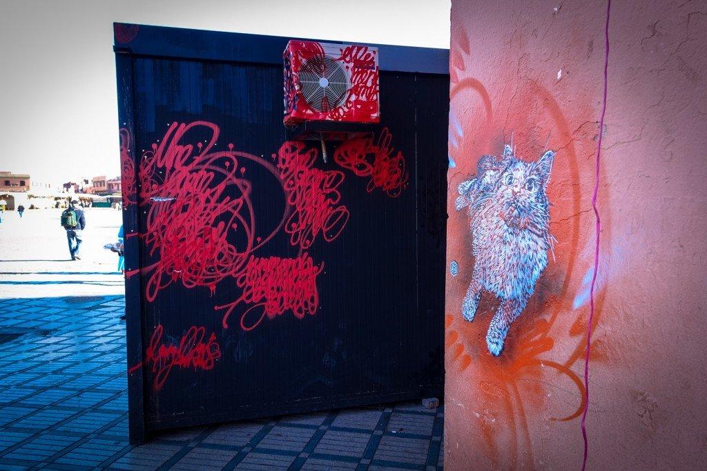 streetart - sun7 & c215 - marrakech - jemaa el fna