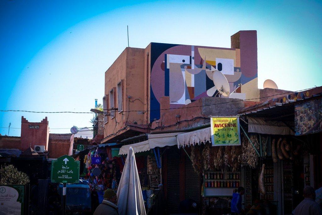 mural - alexey luka - marrakech, place des epices